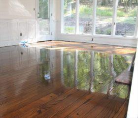 hardwood floor flooding
