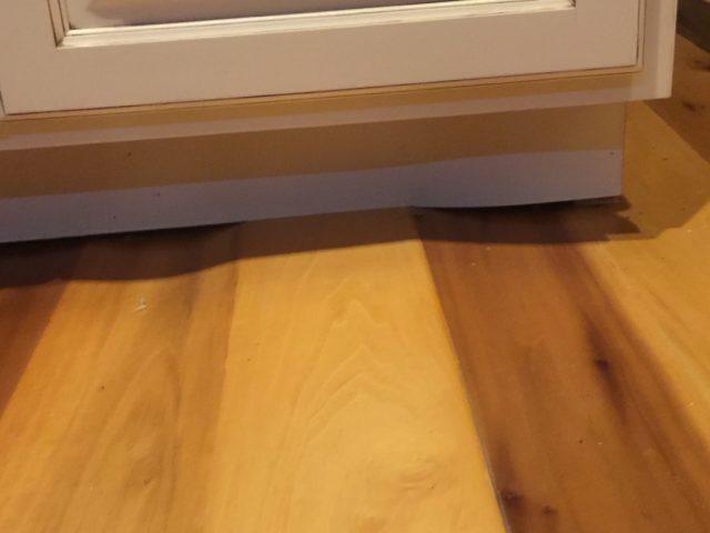 overwood or underwood floor boards