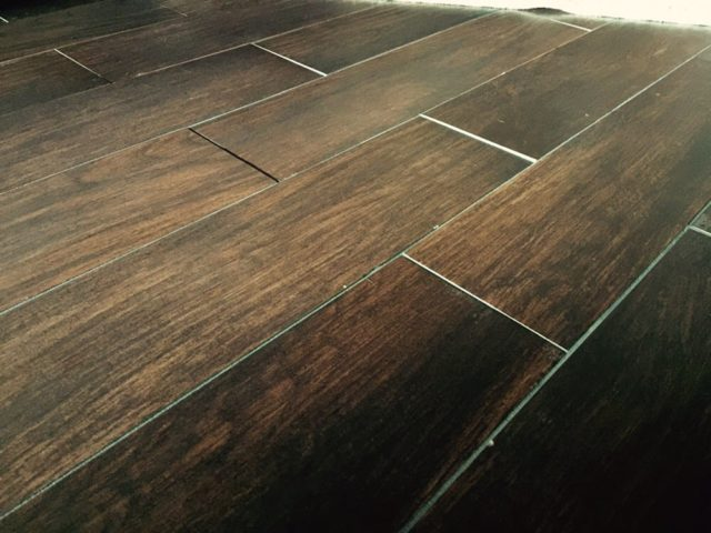 unevenness of a wood floor