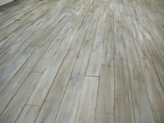 bleaching wood floors