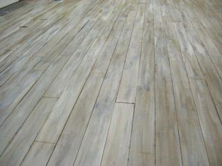 bleaching wood floors
