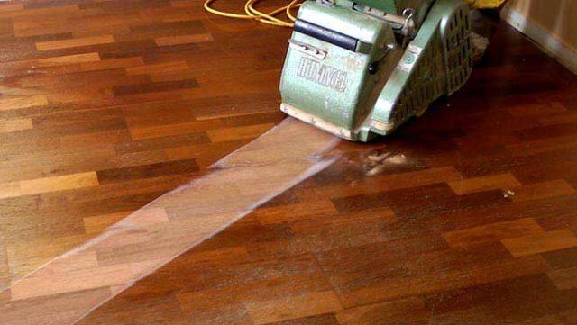 sanding hard wood floors 1