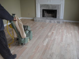 sanding hard wood floors
