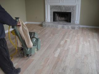 sanding hard wood floors