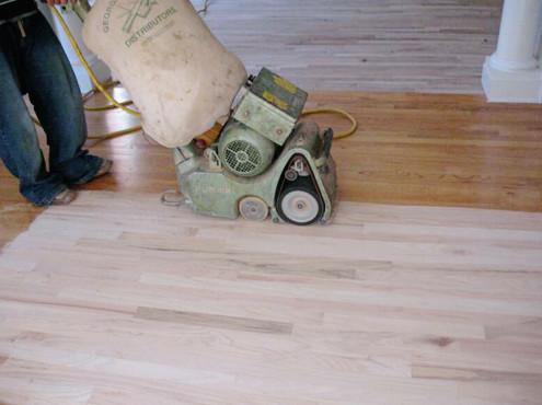 hard wood floor refinishing