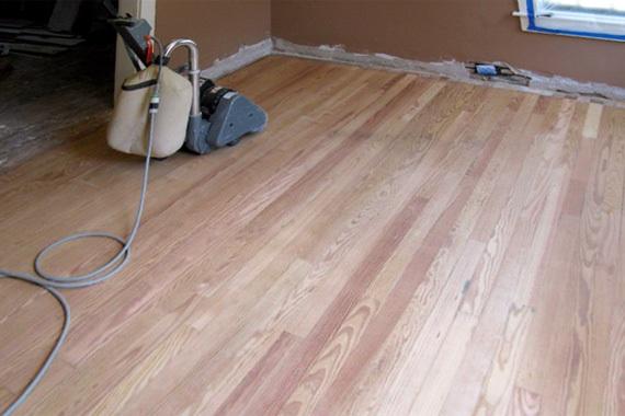 sanding hard wood floors 2