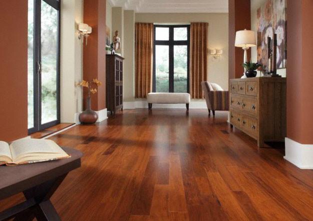 hardwood floor in livingroom