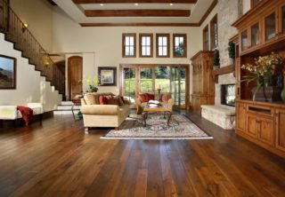 massive livingroom hard wood floor