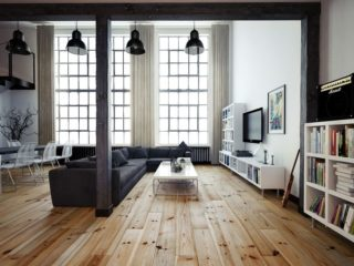 vintage look wood flooring