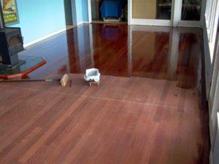 wood floor coating is good