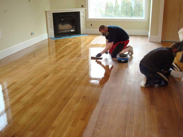 refinishing a beautiful wood floor