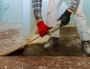 Service | Existing Floor Removal - Header